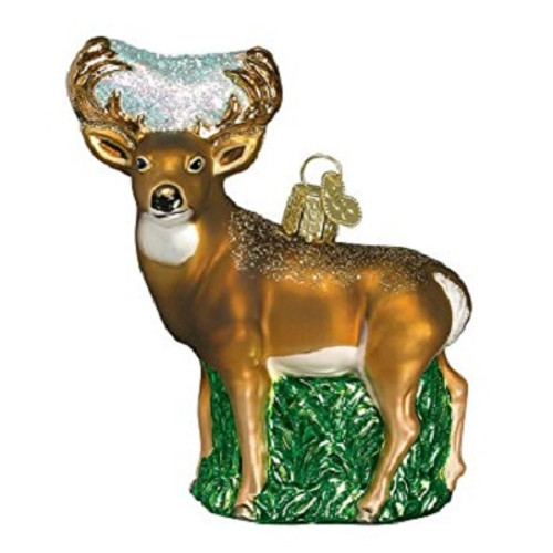 Old World Glass - Whitetail Deer Ornament