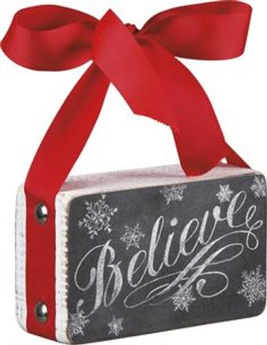 "Primitives by Kathy ""Believe"" Chalk Box Sign"