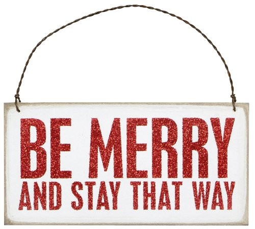 Box Sign Plaque - Be Merry