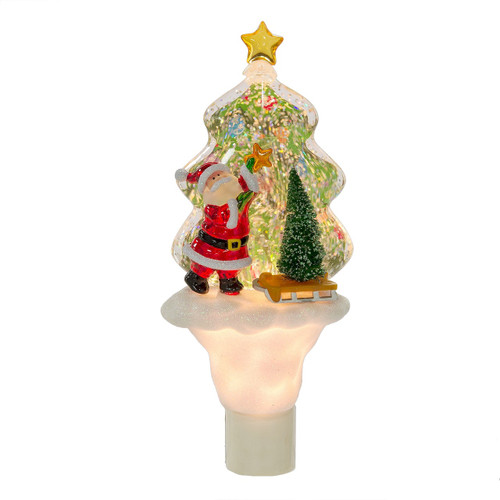 santa shimmer tree night light - Christmas Tree Night Light