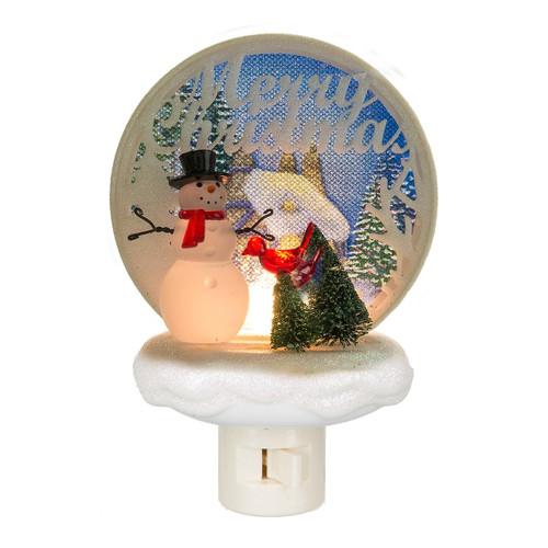 Merry Christmas Scene Night Light