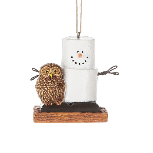 S'mores With Owl  Ornament