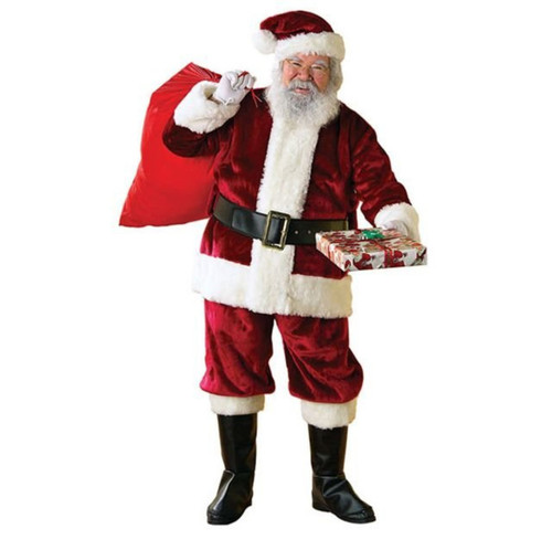 Deluxe Plush Santa Suit