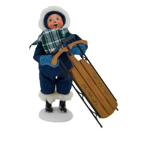 Byers Choice - Snow Day Kid With Sled