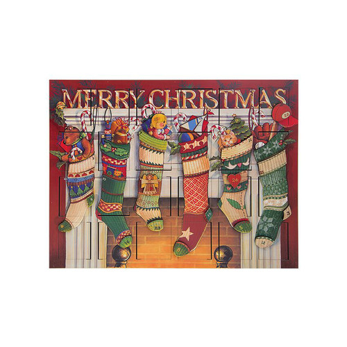 2017 Byers' Choice Solid Wooden Stocking Advent Calendar