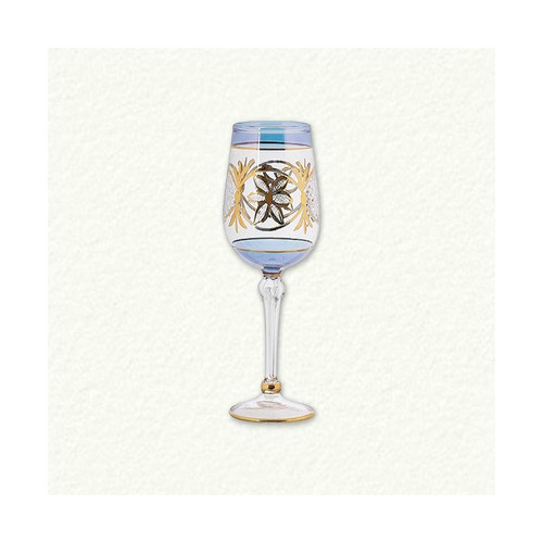 Egyptian Museum Wine Glass with Star