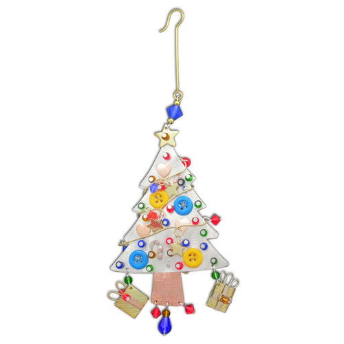 Pilgrim Imports - Handcrafted, Fair Trade,  Metal Traditional Tree Ornament