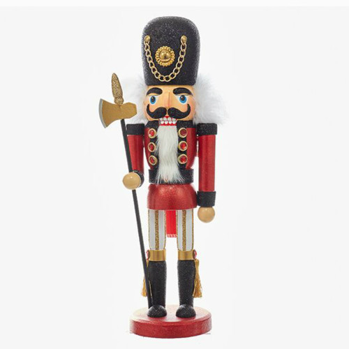 """15"""" Black and Red Soldier Nutcracker"""