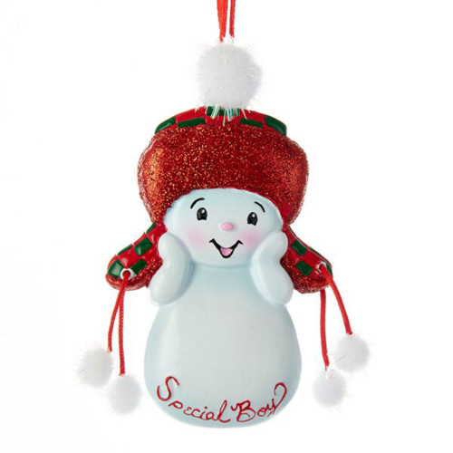 Free Personalization* Special Boy Snowkid Ornament