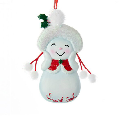 Free Personalization* Special Girl Snowkid Ornament