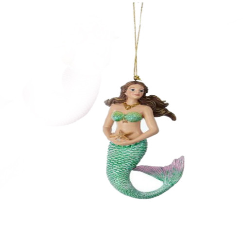 Sea Green Mermaid Ornament