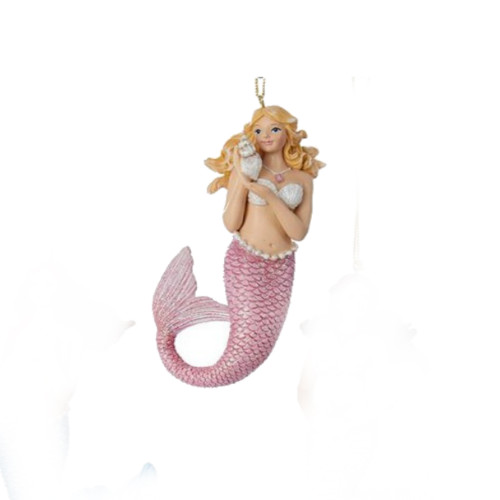 Pink Mermaid Ornament
