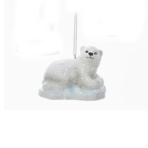 Polar Bear Laying on Iceberg Ornament