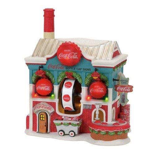 Department 56- North Pole Village- Coca Cola Bottle Caps Building