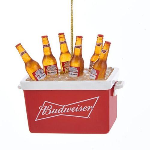 Budweiser Bottles in Cooler Ornament