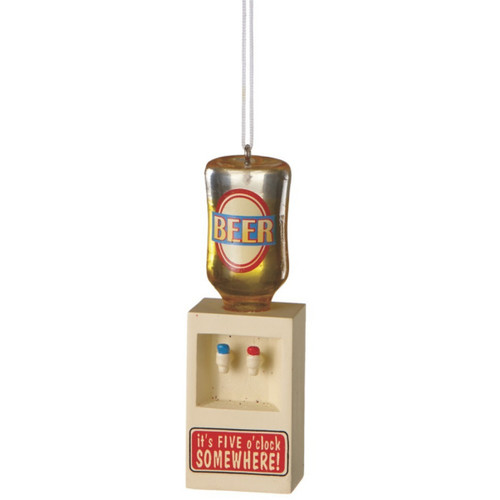 "Beer Cooler Ornament -""It's 5 O' Clock somewhere"""