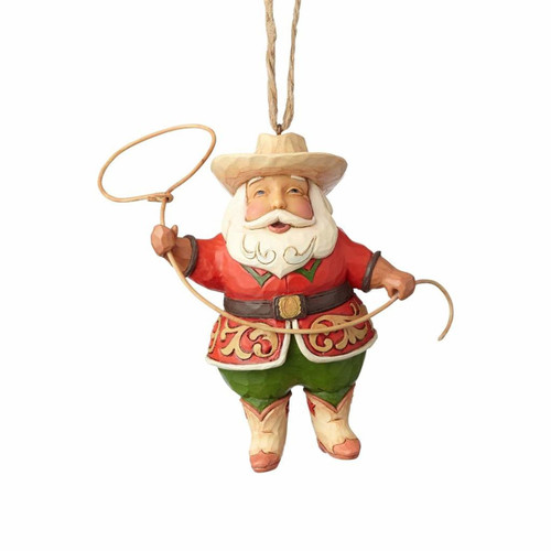 *New 2017* Jim Shore Heartwood Creek - Cowboy Santa Ornament