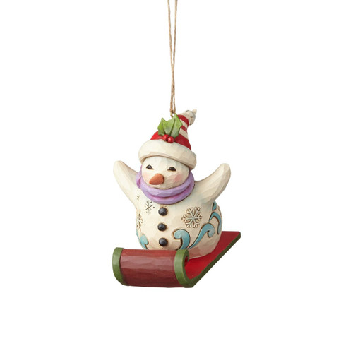 *New 2017* Jim Shore Heartwood Creek- Snowman Sledding Ornament