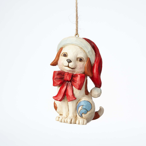 *New 2017* Jim Shore Heartwood Creek- Puppy with Bow Ornament