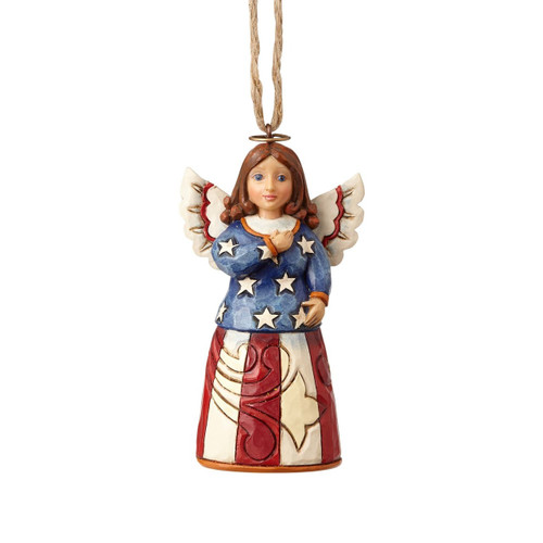 *New 2017* Jim Shore Heartwood Creek- Patriotic Angel  Ornament