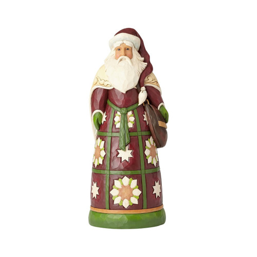 *New 2017* Jim Shore Heartwood Creek- Santa with Satchel Statue