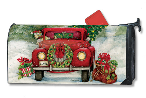 Bringing Home the Tree Mail Box Cover