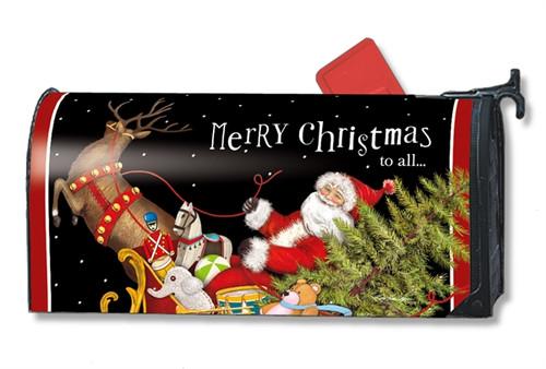 Santa's Sleigh Mail Box Cover