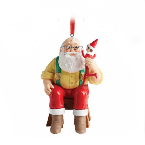 *New for 2017* Elf on the Shelf - Elf Reports to Santa Ornament
