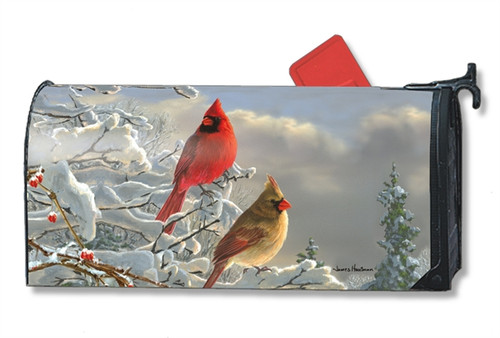 Winter Cardinals  Mail Box Cover
