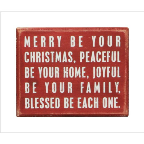 Merry Be Box Sign