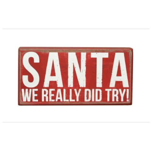 Dear Santa Box Sign