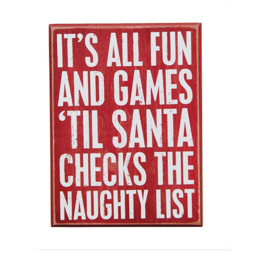 Fun and Games Box Sign