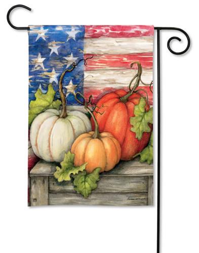 Patriotic Pumpkin Garden Flag