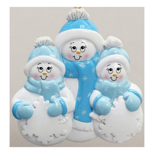 Free Personalization - Snowman Plus 2 Ornament