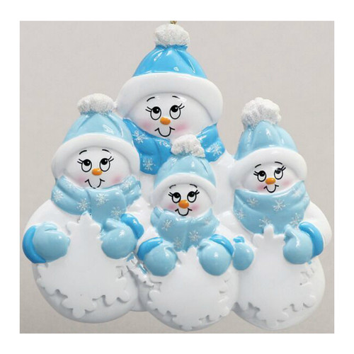 Free Personalization - Snowman Plus 3 Ornament