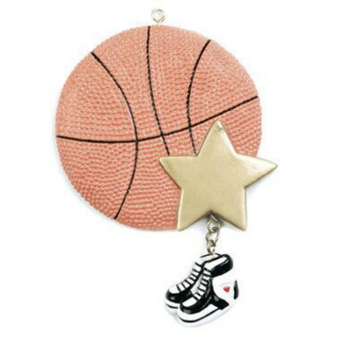 Free Personalization - Basketball Star Ornament