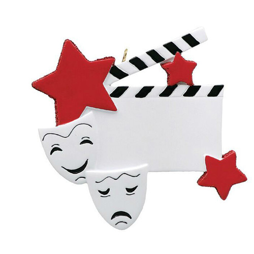 Free Personalization - Drama Star Ornament