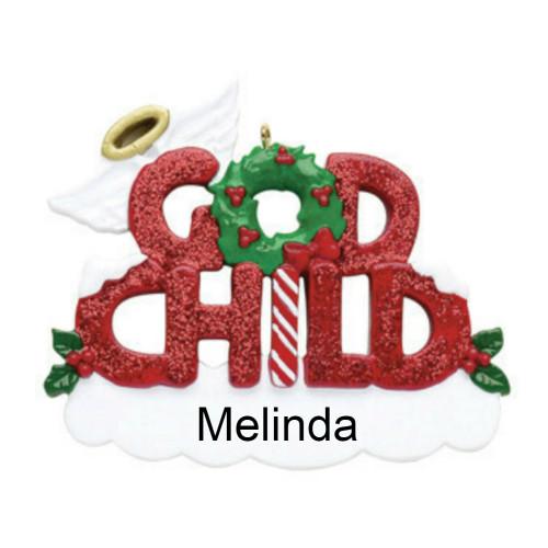 Free Personalization - Godchild Ornament