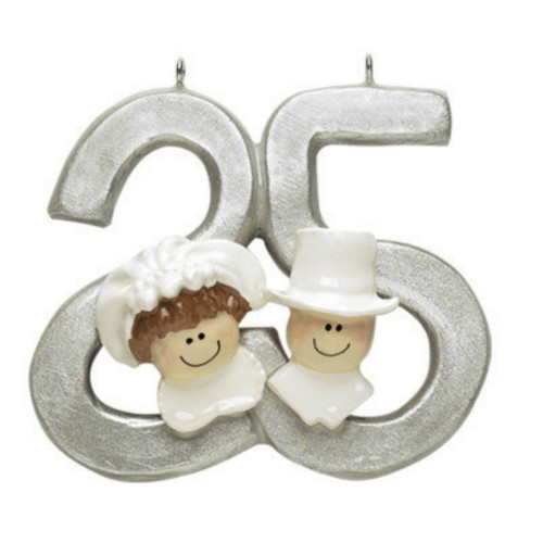 Free Personalization - 25th Anniversary Ornament