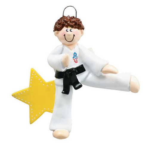 Free Personalization - Karate Boy Ornament