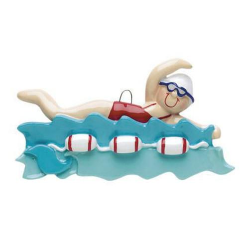 Free Personalization - Female Swimmer Ornament