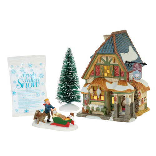 *New 2017* Department 56- Dickens' Village- Xmas Carol Poulterers Shop Set