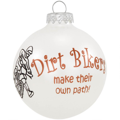 *New for 2017* Dirt Biker Glass Ornament
