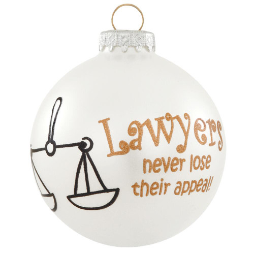Lawyer Glass Ornament