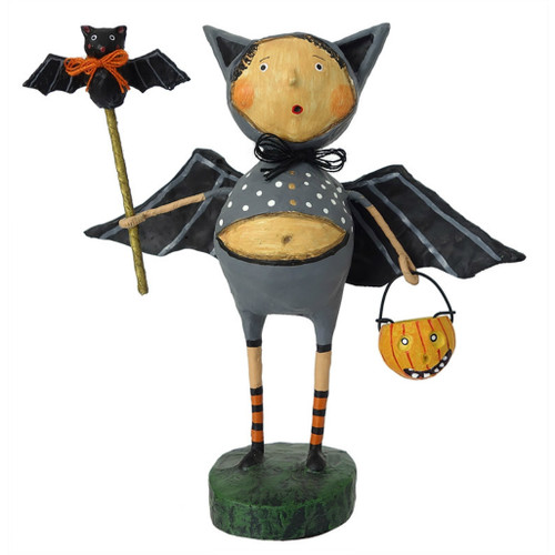 Lori Mitchell Folk Art - Bat Boy Ben Figurine