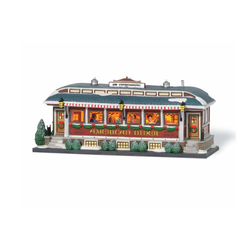 Department 56 - Christmas in the City Village - American Diner Lit Building