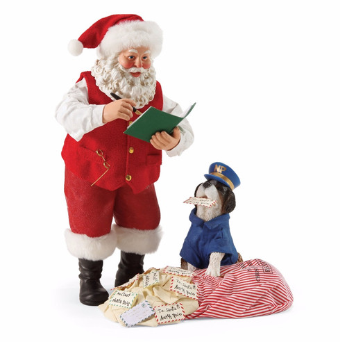 *New for 2017* Department 56 - Possible Dreams - Postal Inspector Clothtique Santa