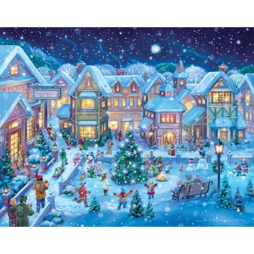 Holiday Village Square Paper Advent Calendar