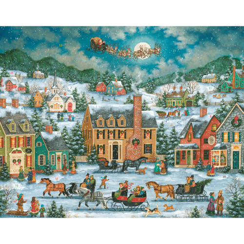 Christmas Town Paper Advent Calendar