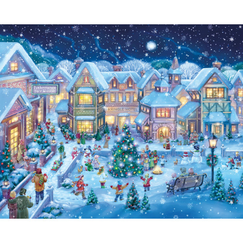 Holiday Village Square 1000 Piece Jigsaw Puzzle